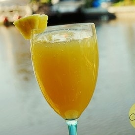 Host a Sunny Soiree: Pineapple Mimosa