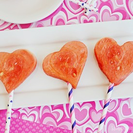 Frozen Watermelon Pops For Valentine's Day