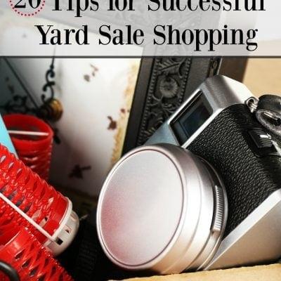 20 Yard Sale Shopping Tips