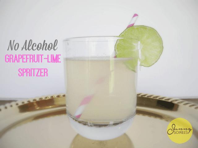 Summer Mocktails: Grapefruit Lime Spritzer