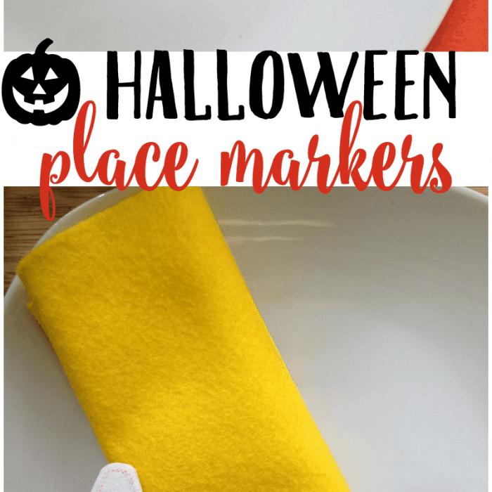 Chalkboard Halloween Place Markers