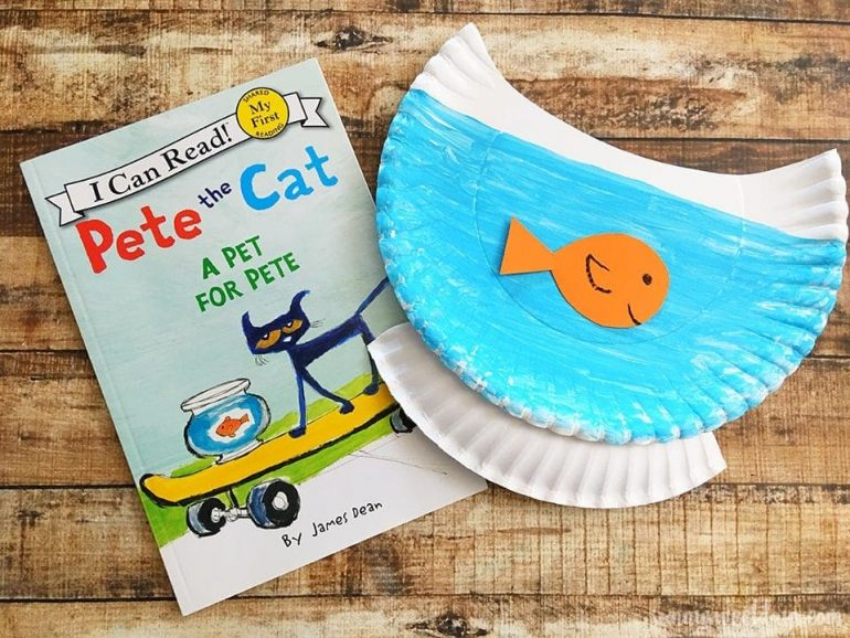 Paper Plate Pete the Cat