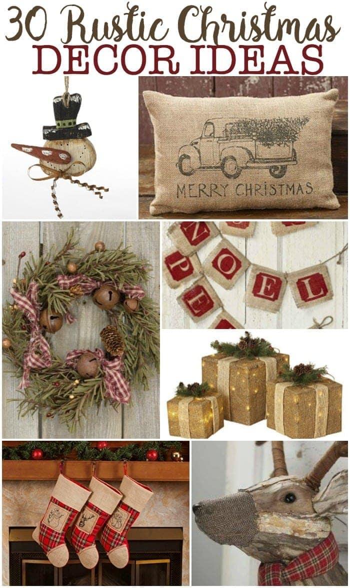 Rustic Christmas Decor Ideas Sunny Sweet Days