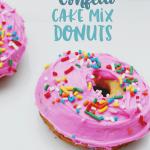 Confetti Cake Mix Donuts