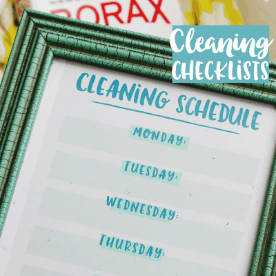 DIY Cleaning Checklists and Laundry Tips