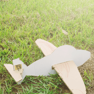 DIY Cardboard Box Glider Craft