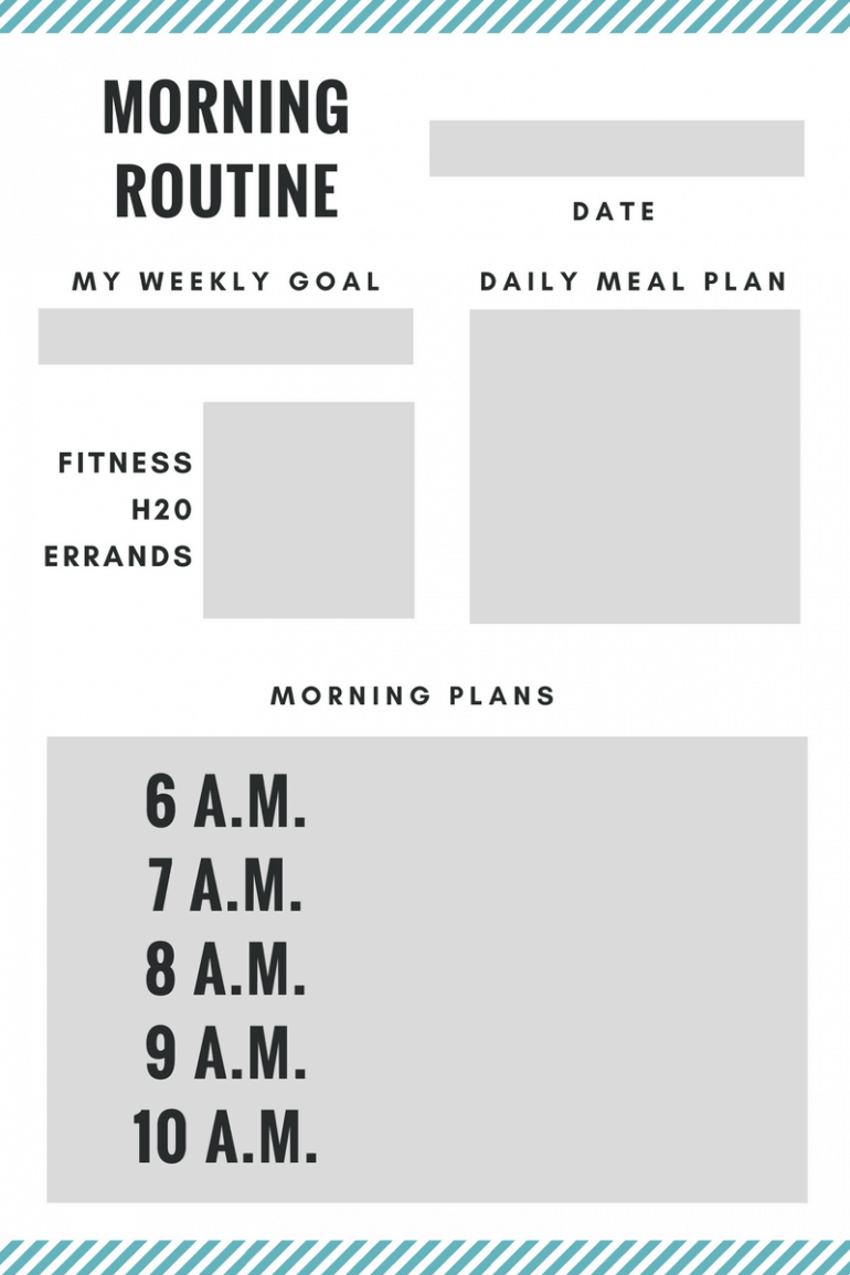 Morning Routine Printable