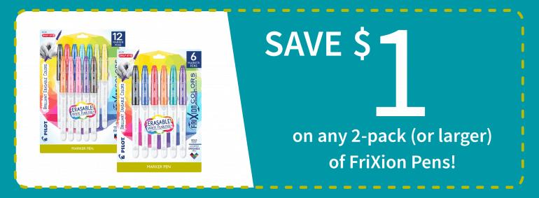 Pilot FriXion ColorSticksErasable Marker Pens BTS at Target_coupon