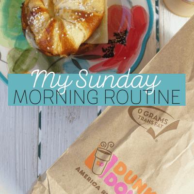 My Sunday Morning Routine