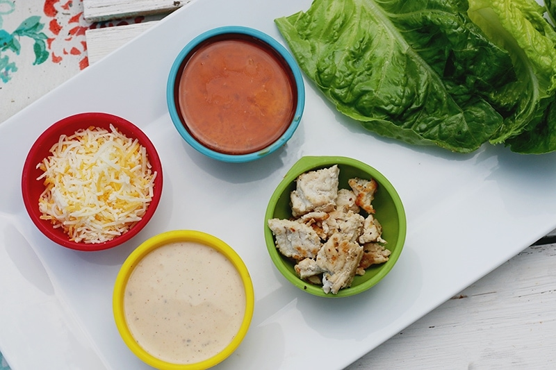 Buffalo Turkey Lettuce Cups