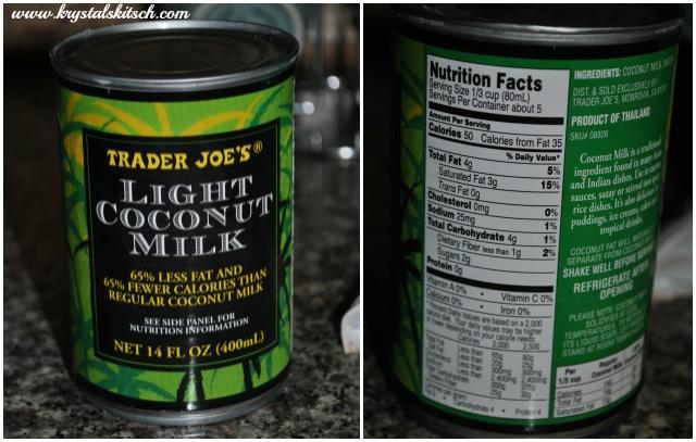 Trader Joes Light Coconut Milk