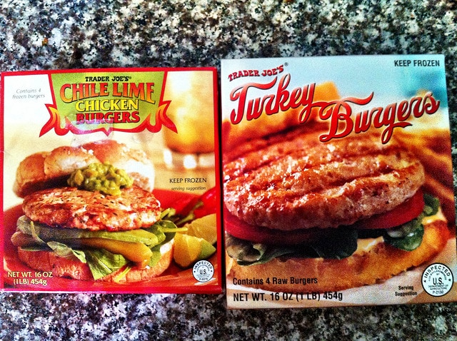 Trader Joe's Chicken Chile Burgers