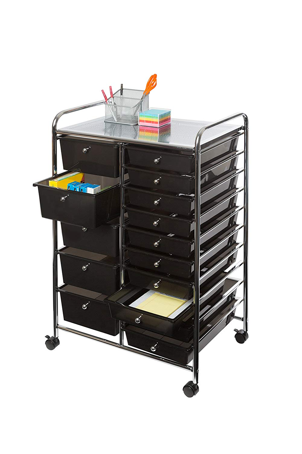 15-Drawer Organizer Cart