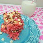 Pink Velvet Cake Bars