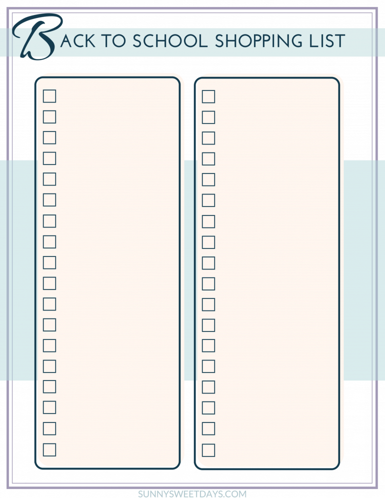 Back to School Printable Planners