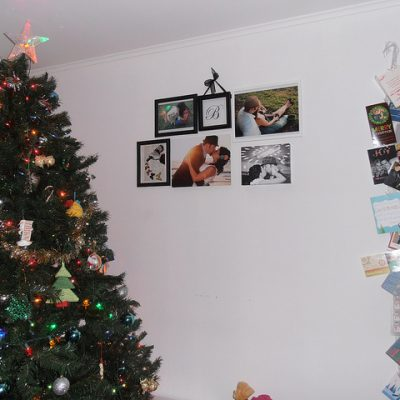 Trimming the Tree {Christmas Decor}