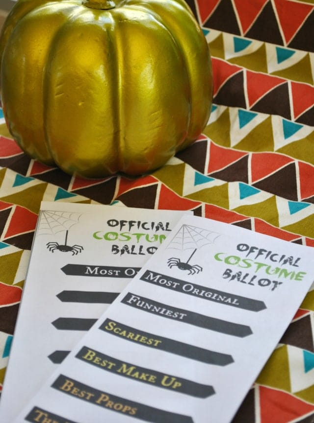 Halloween Costume Party Ballot