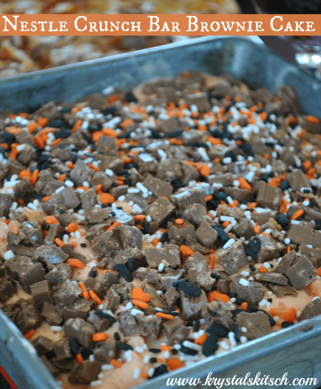 Easy Halloween Recipes: Nestle Crunch Bar Brownie Cake