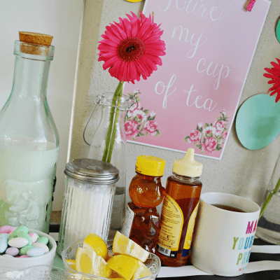 Easter Tea Party Printables | DIY Tea Bar