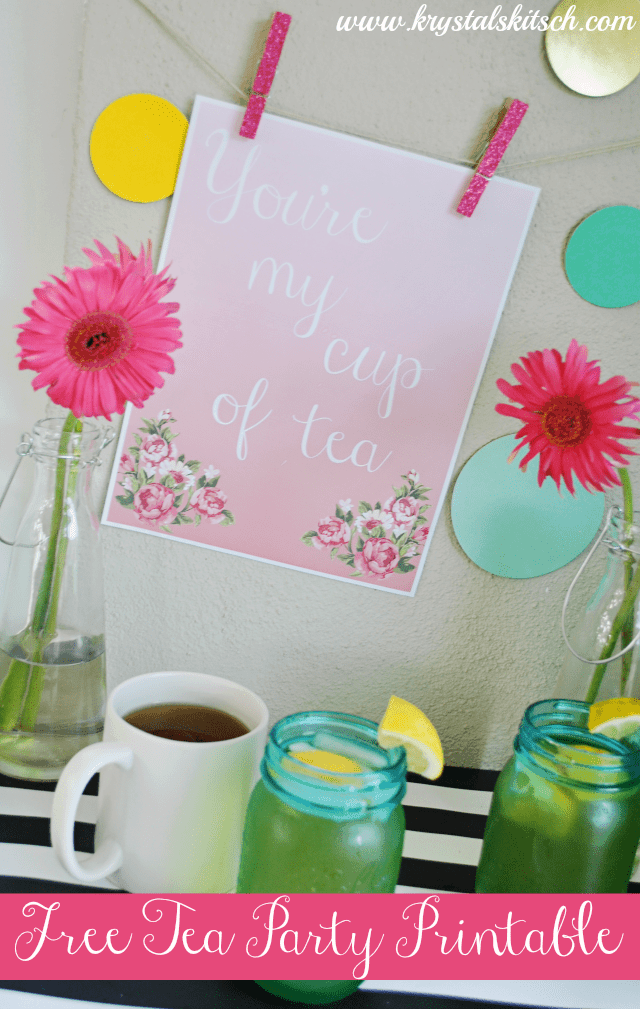 Host a Tea Party With This Free Printable