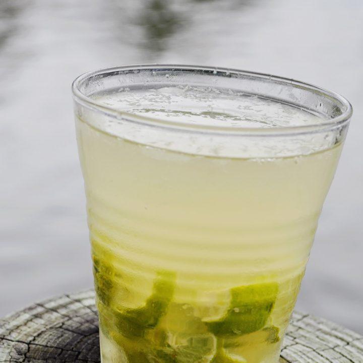 Key Lime Caipirinha Cocktail