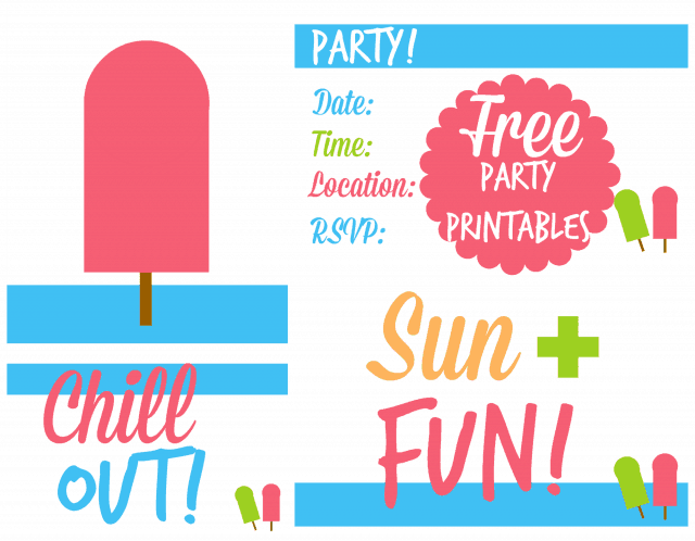 Free Summer Party Printables