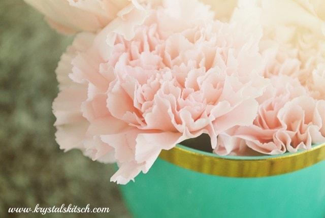 carnation flower centerpiece