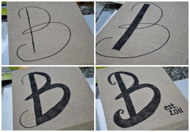 Burlap Canvas Art