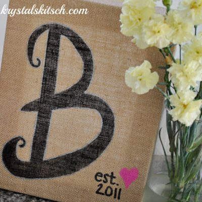 Easy Burlap Home Decor With Sharpie Paint Markers