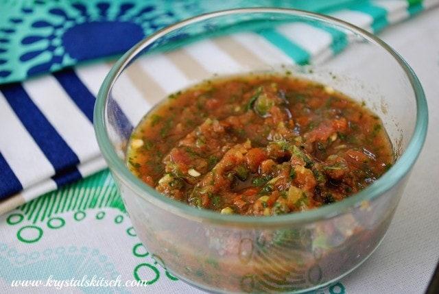 Garlic Tomato Salsa Recipe