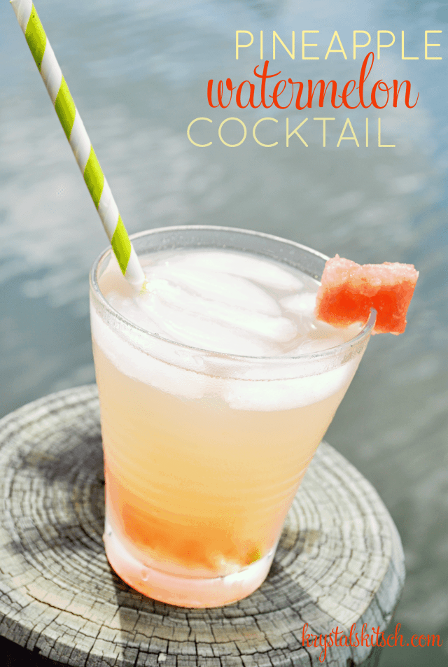 Pineapple Watermelon Cocktail
