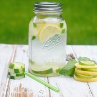 Cucumber Lemon Lime Basil Infused Water
