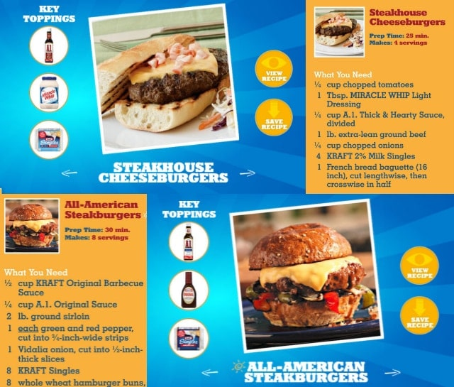 Kraft Great American Cheeseburger Blippar App #shop