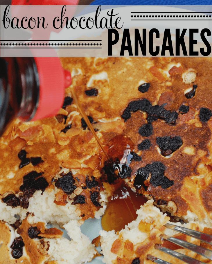 Bacon Chocolate Pancakes