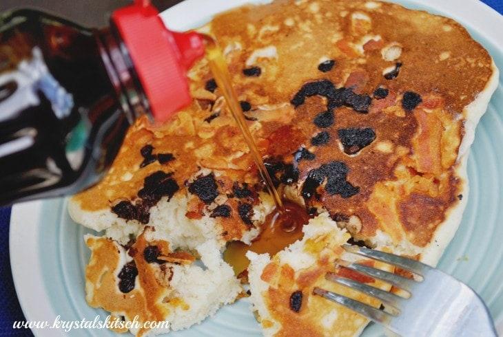 Chocolate Bacon Pancakes