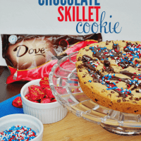 Dark Chocolate Chip Skillet Cookie