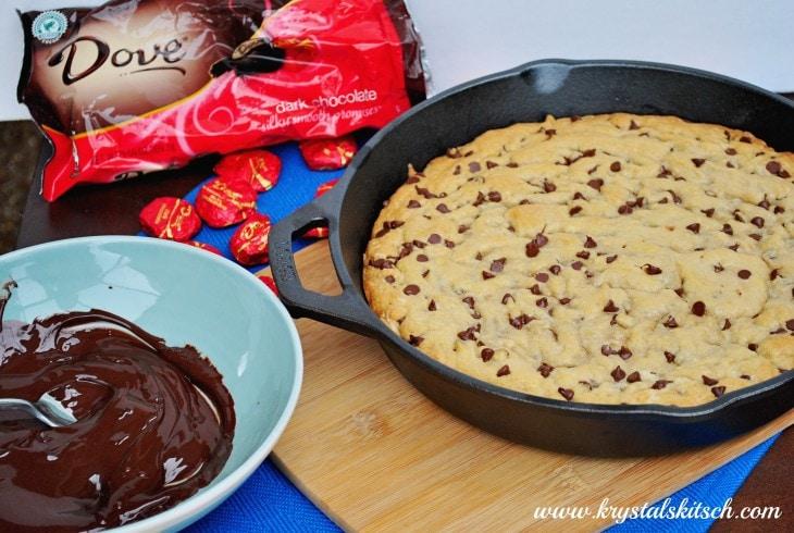 Chocolate Chip Cookie Cake Cast Iron Skillet