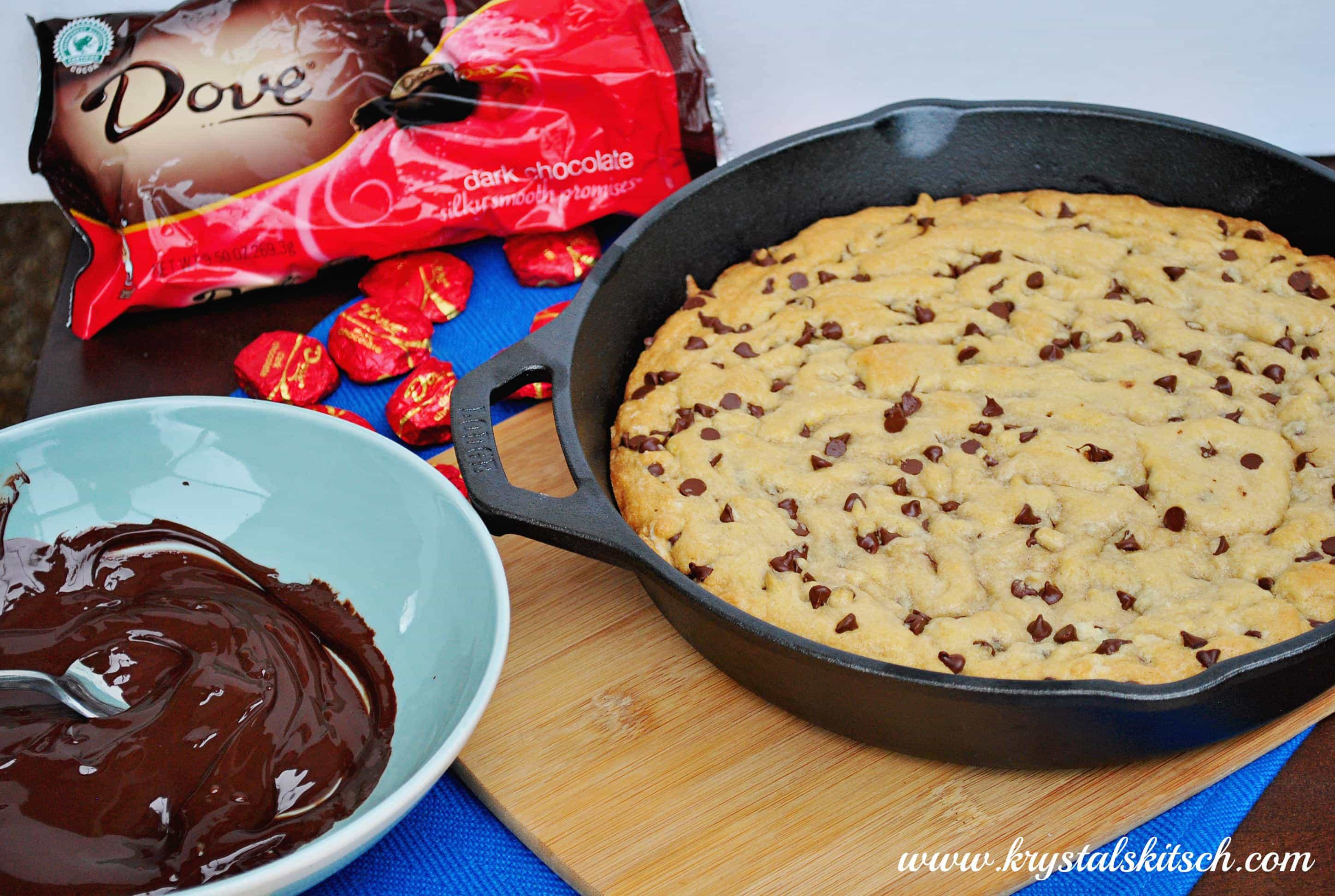 Dove Chocolate Chip Skillet Cookie