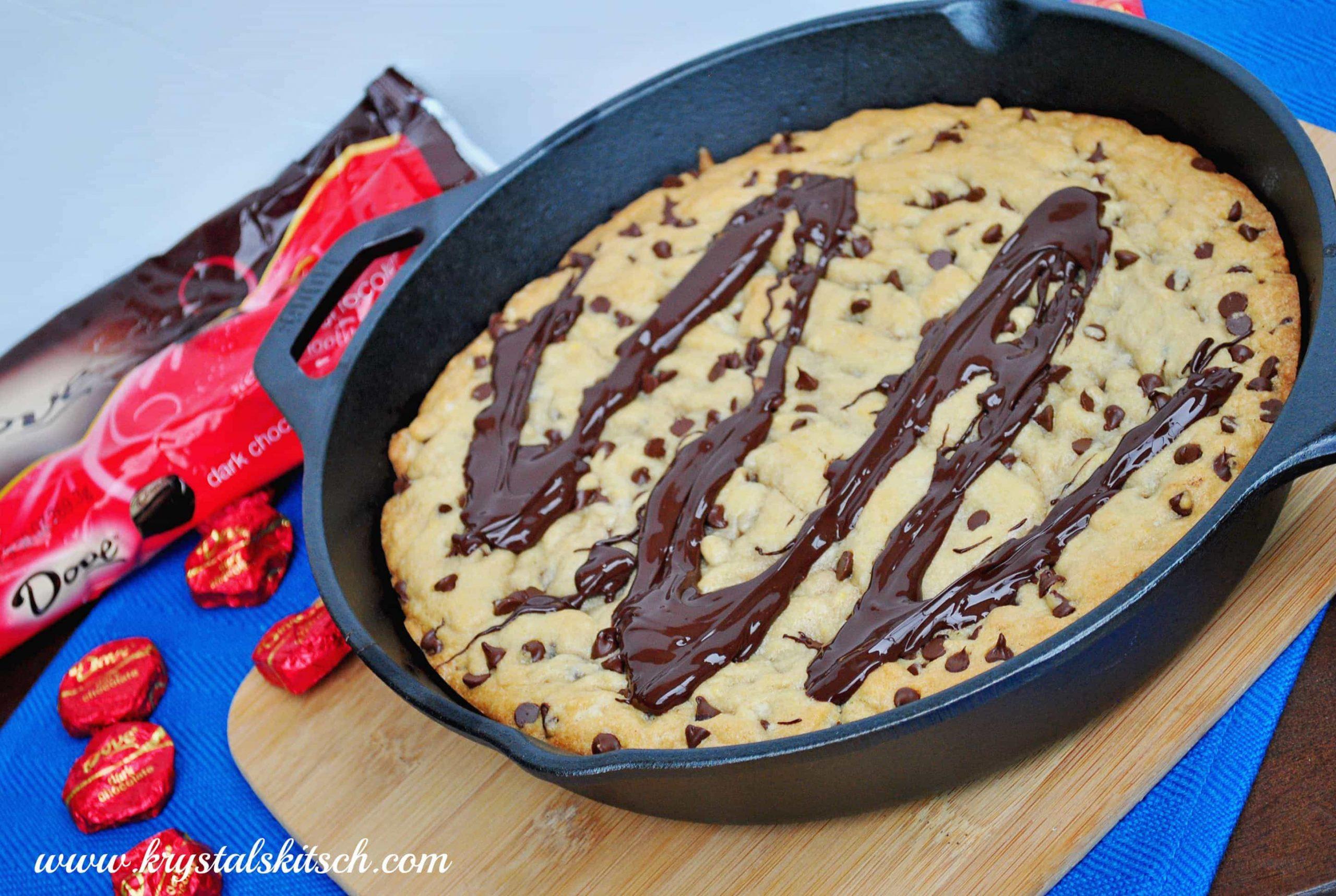 Dove Dark Chocolate Chip Skillet Cookie Recipe