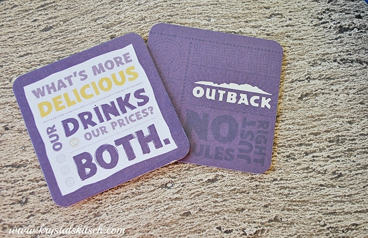 Outback Steakhouse Coasters