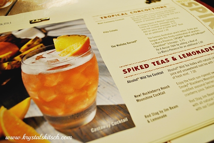 Outback Steakhouse Cocktails