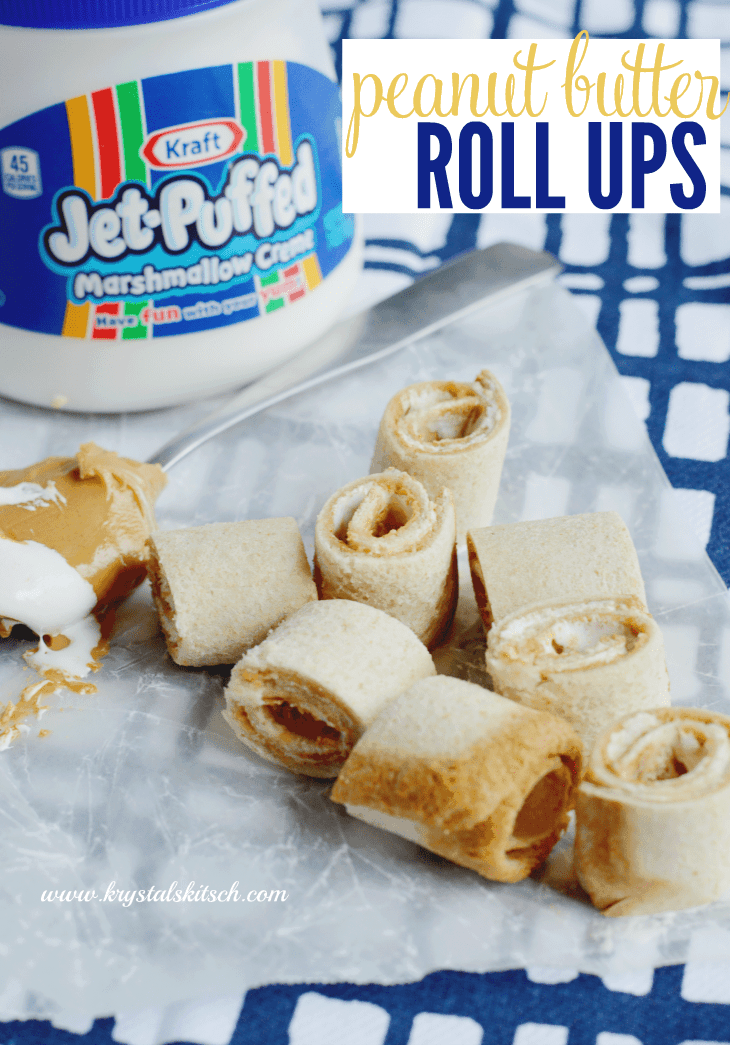 Peanut Butter Marshmallow Roll Up