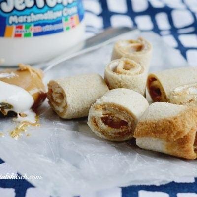 After School Snack Ideas: Peanut Butter Roll Ups