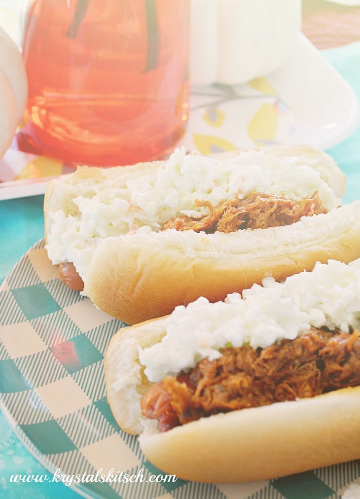 Pulled Pork Hot Dogs