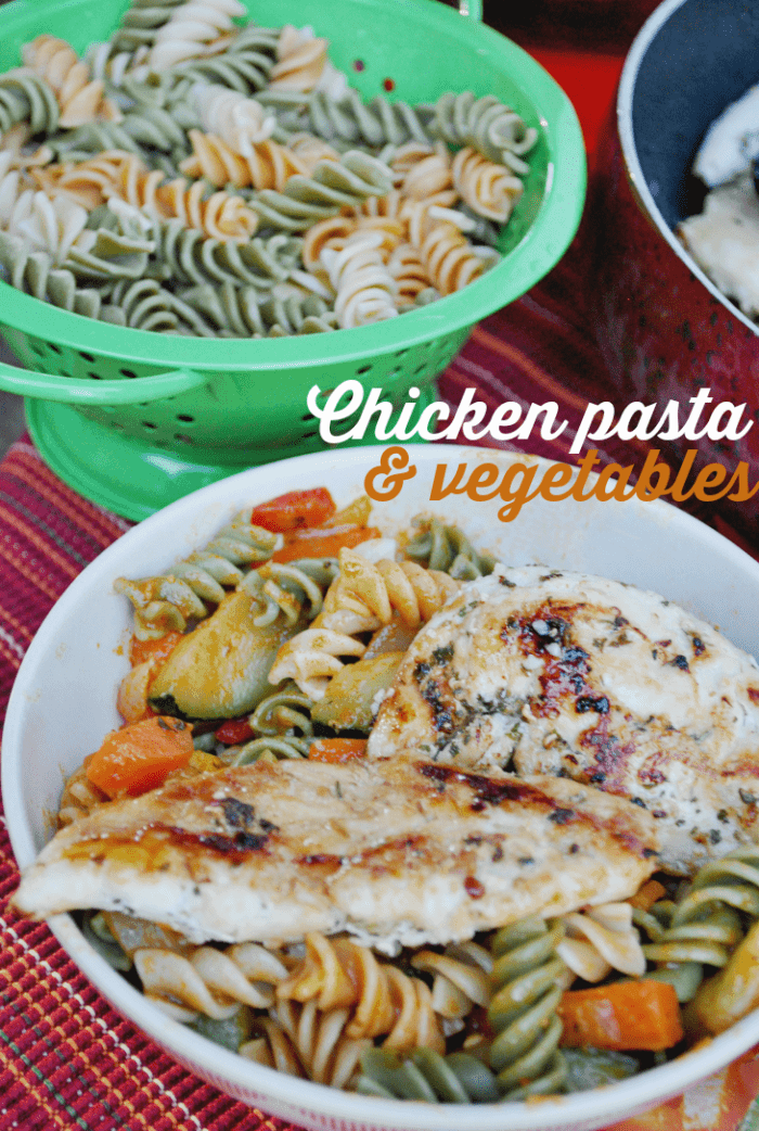 This kid friendly recipe encourages your little ones to eat colorful vegetables in their tasty pasta!