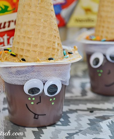 Easy Halloween Snack Idea: Witch Snack Pack Pudding Cups