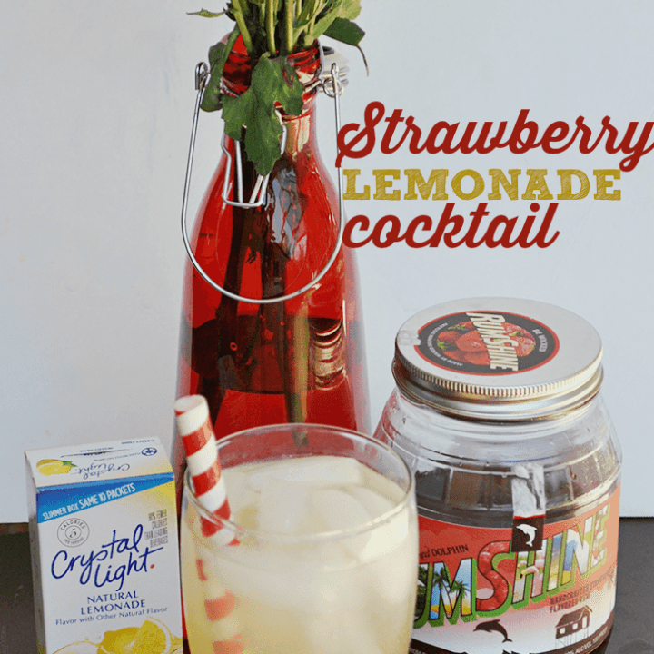 Use Crystal Light to create a sweet cocktail! This strawberry lemonade is refreshing and easy to make.