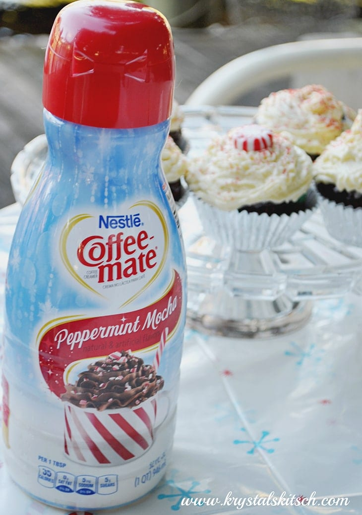 Try adding peppermint mocha creamer to your cupcakes for a mint chocolate cupcake!