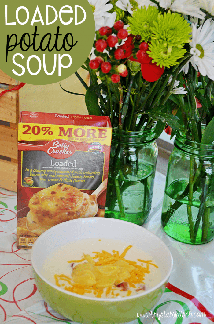Try this loaded potato soup for an easy winter dinner recipe!
