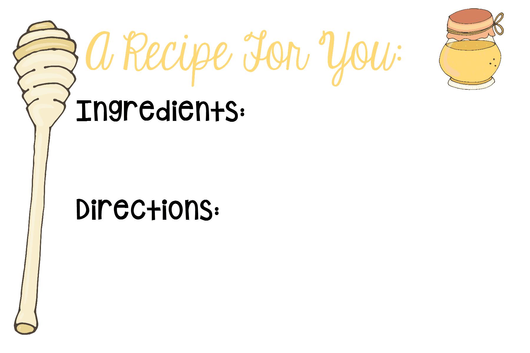 Honeycomb Recipe Card